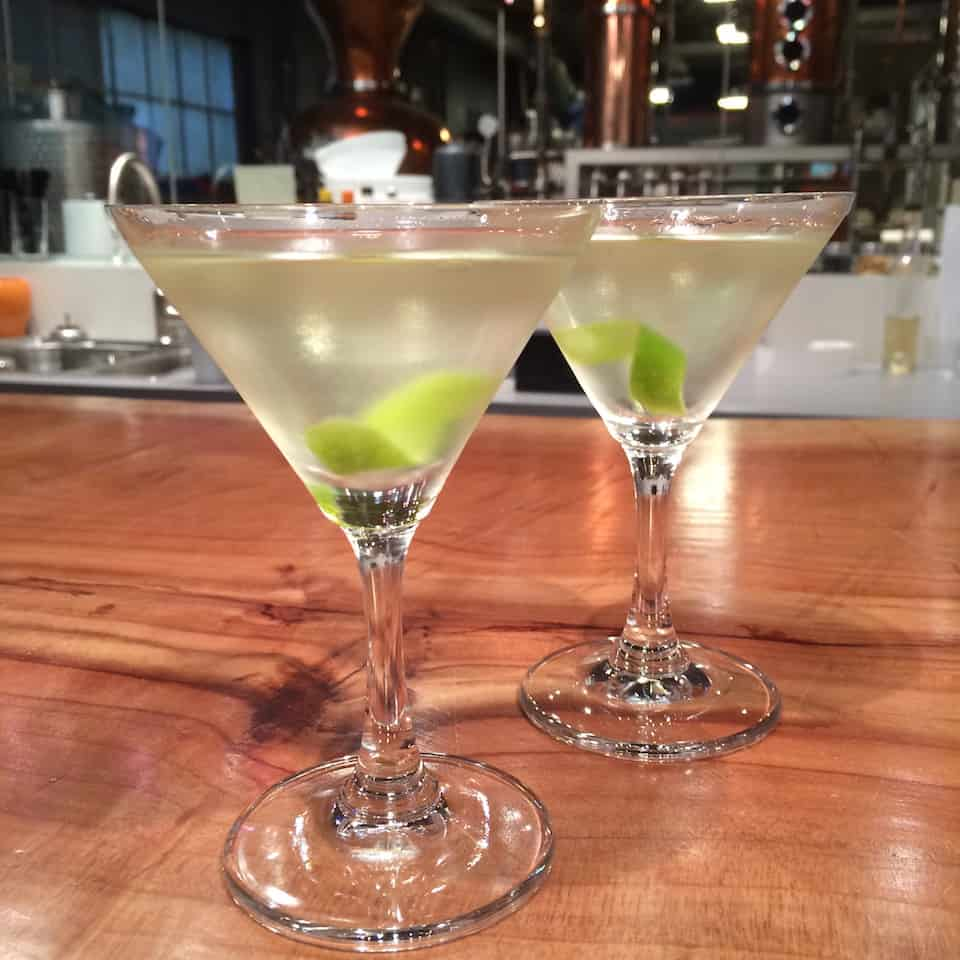 cocktail gimlets, long table distillery