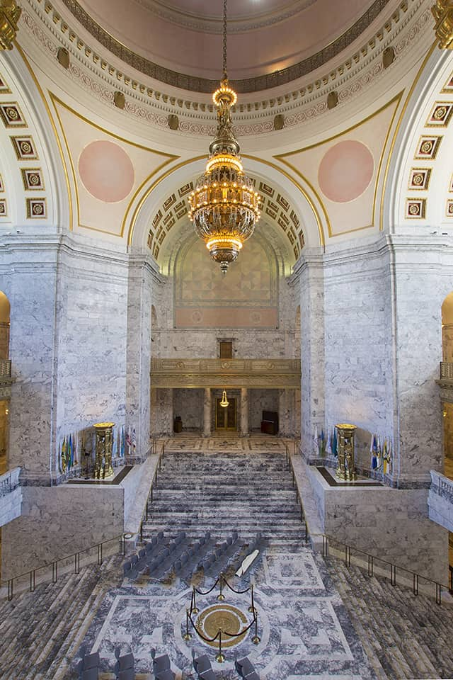 Washington State Capitol Building Rotunda Chandlier in Olympia