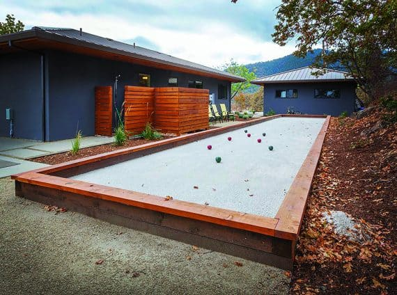 bocce court
