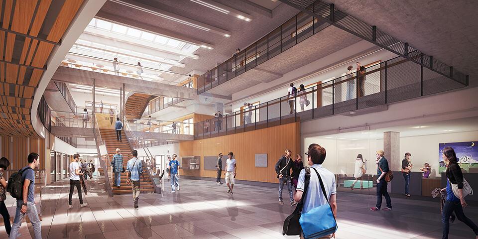 The Bill and Melinda Gates Center atrium (artist's rendering)