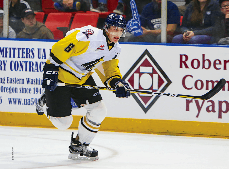 Juuso Välimäki is in his third season with the Tri-City Americans.