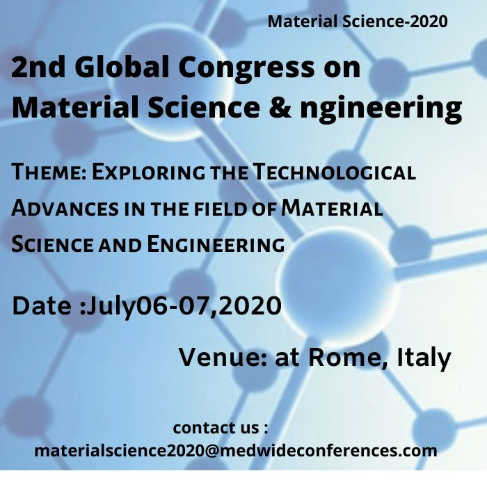 2nd Global Congress on Material Science & Engineering