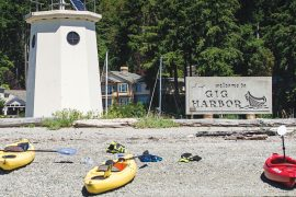 One of the best ways to spend a summer day in Gig Harbor is by renting a kayak or paddleboard and hitting the water.