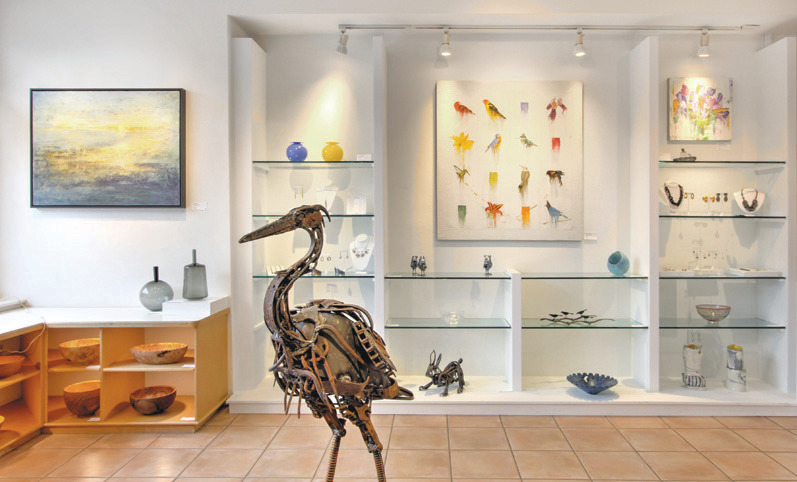 Peruse contemporary artwork at Museo from artists such as Aidan Rayner, Michael Dickter and C.A. Pierce, whose work is pictured here.